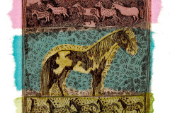 jauneth-skinner-©-2000-indian-pony-days-intaglio-etching-pinto-horse