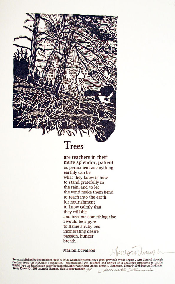 jauneth-skinner-©-1998-lake-songs-marlon-davidson-letterpress-linocut-broadside