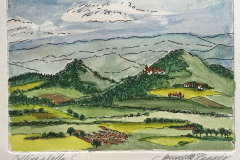 jauneth-skinner-©-colline-e-valle-ii-etching-w-hand-coloring-umbria-italy-landscape