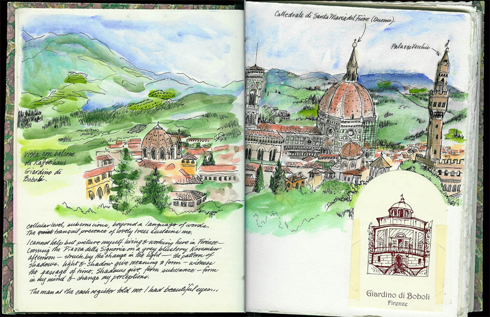 jauneth-skinner-©-view-from-boboli-garden-pen-and-ink-and-watercolor-illustrated-journal