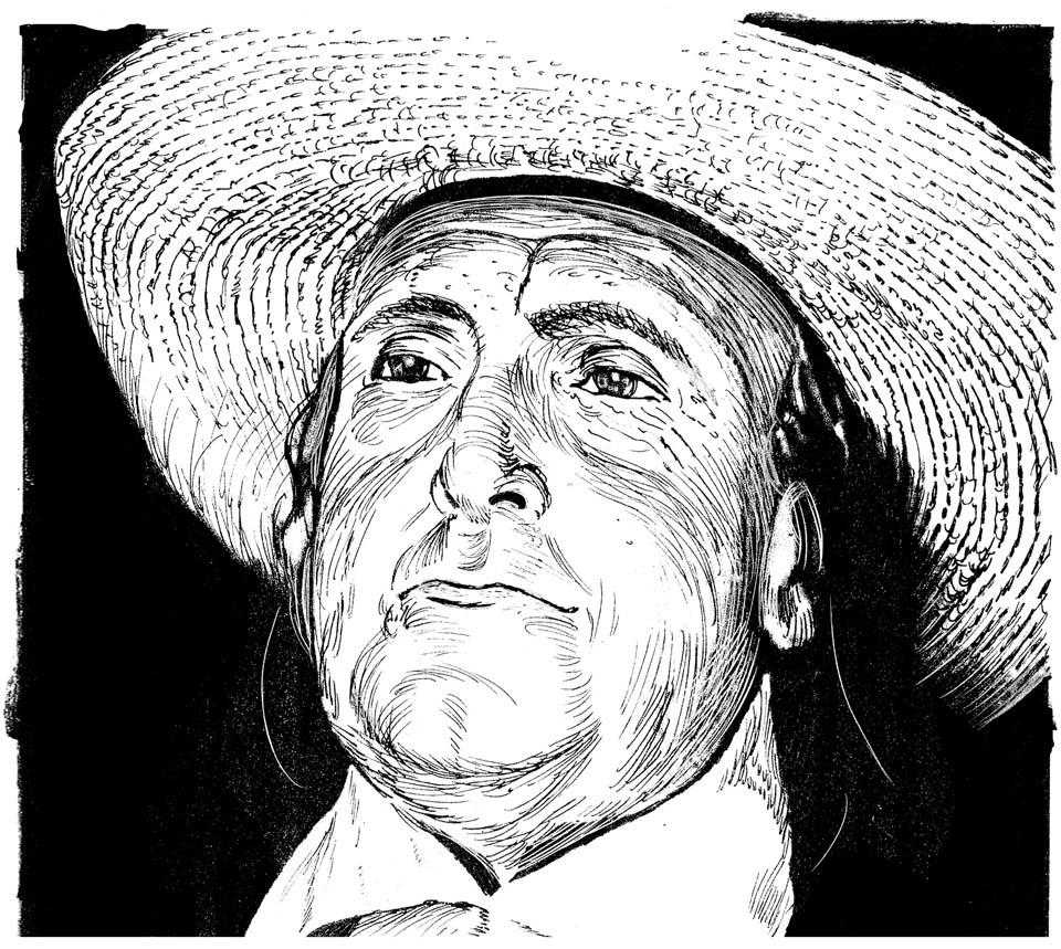 jauneth-skinner-©-Bentham-J-pen-and-ink-portrait-illustration