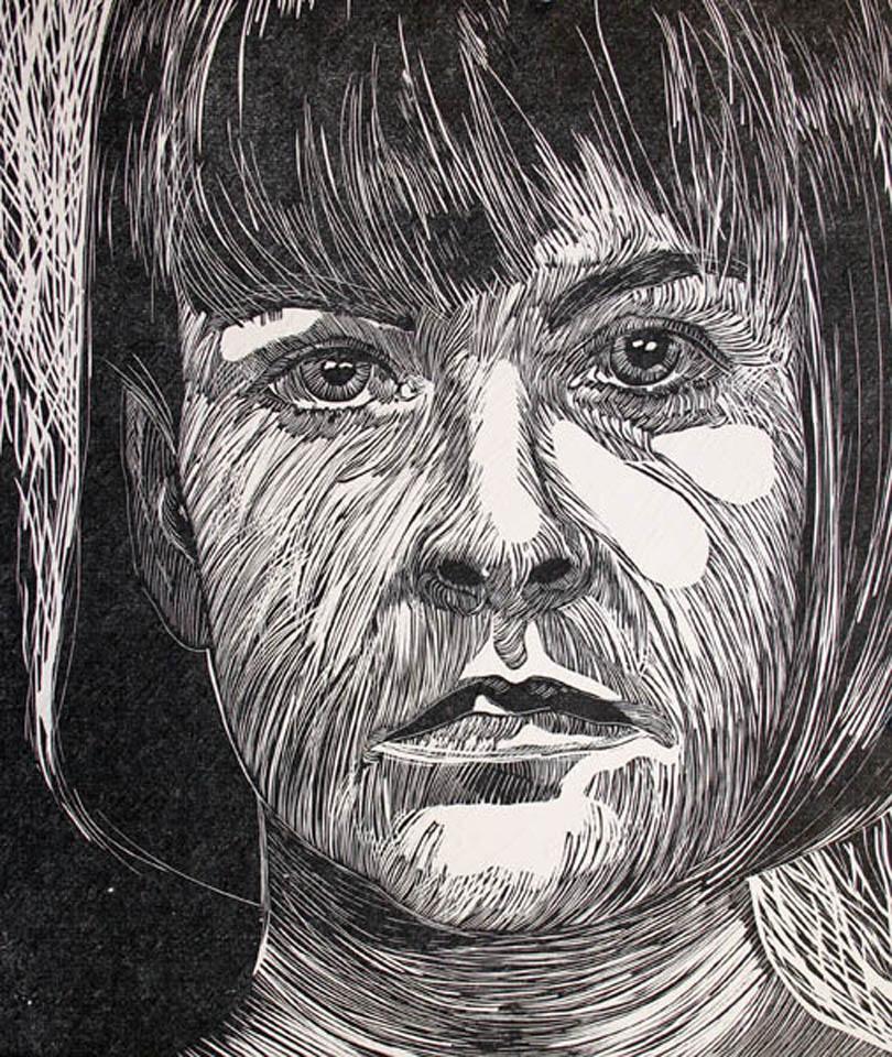 jauneth-skinner-©-i-cannot-even-even-be-myself-linocut-self-portrait