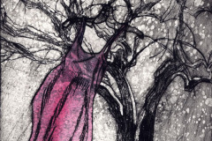 jauneth-skinner-©-2005-sognotrice-nell-inverno-dreamer-in-winter-tree-self-portrait-etching